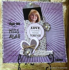 Page Inspiration with Connie! Hi, Connie here with a scrapbook page using the Alton paper and the February Club Q Kit. I didn't come close to using all the kit in February, so I wanted to create more pages.  Nothing wasted !!!