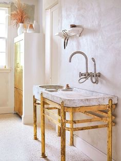 - Liz Gardner Home Renovation, Monochrome, Garden Sink, Vintage Sink, Herringbone Wood Floor, Turbulence Deco, Built In Seating, Amber Interiors, Tiles Texture