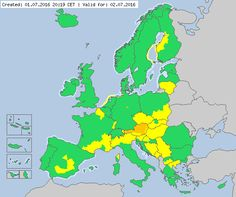 Valid for 02.07.2016 Meteoalarm - severe weather warnings for Europe - Mainpage