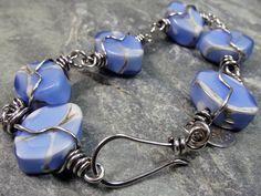 Matte  Marbled Denim  Blue and Silvered by PattiVanderbloemen, $70.00