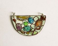 Torch fired enamel pendant by SuzanneLoveJewelry on Etsy