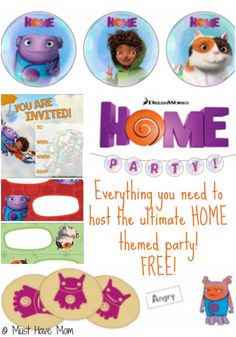 HOME Movie Themed Party Ideas and Free Home Movie Party Printables! via @http://pinterest.com/musthavemom/