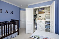 Great kids' closets :: With a built in dresser it frees up floor space in the bedroom. This will be happening in our new home.