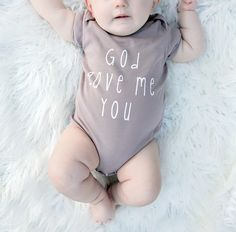 The perfect baby shower or new birth gift, this cotton onesie is a comfortable and cute outfit for that special little miracle in your life! ***Since all items are hand-printed to order, I am currentl