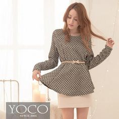 Buy 'Tokyo Fashion – Long-Sleeve A-Line Patterned Top' with Free International Shipping at YesStyle.com. Browse and shop for thousands of Asian fashion items from Taiwan and more!