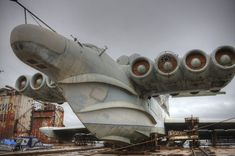 What the hell is this thing, the Russian's version of the Spruce Goose? It's cool regardless.