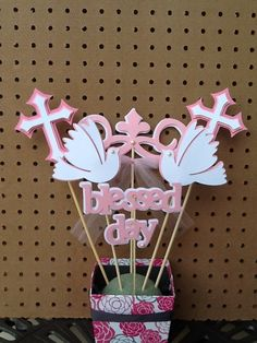Baptism Christening Table Decoration Centerpiece