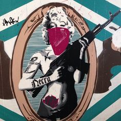 Marilyn goes to war? :/ #murales #graffiti photo by vee1979