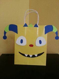 Henry Hugglemonster inspired goodie bag pattern.