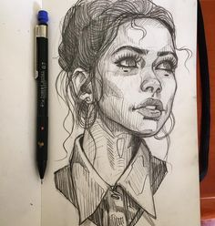 Random #sketch #girl #sexy #portrait #pencil #illustration #drawing #moleskine ✍️✍️✍️