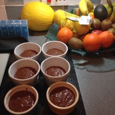 No bake choc n chia pud  1/2 cup organic cocoa powder,  400ml coconut milk,  2 teaspoon vanilla essence 15 mejdool dates 2 tablespoon melted coconut oil 1/4 cup chia seeds 1/4 teaspoon (max) of seasalt 1/2 cup hot water  Put all in a blender and whiz for about a minute... Put in fridge to chill. Top with blueberries when serving...cream or yogurt if wanted).  Absolutely delicious and ready in max 15 minutes from start to finish (minus the washing up!!)