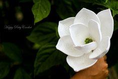 Ravelry: Magnolia Grandiflora Flower pattern by Happy Patty Crochet