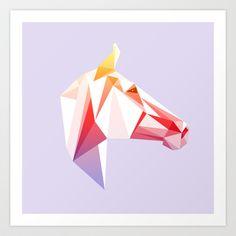 Geometrical Horse Art Print by Amanda Appiarius