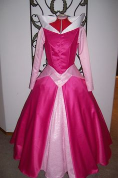 Princess Aurora Sleeping Beauty Pink Lace Dress ADULT Custom. $220.00, via Etsy.