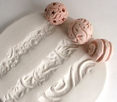 Clay Texture Stamp Small Sculpture Ball Just roll the ball any direction to get artsy imprint.