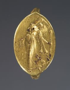 """""""Greek, Ring with dancing maenad, 400-300 BC (source). """""""