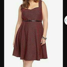 Torrid skater dress Cute dress never used .. very faltering to the body torrid Dresses Midi