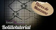 Fondo FLORES DE MANZANO - Bolillotutorial ADSUAR - Encaje de Bolillos