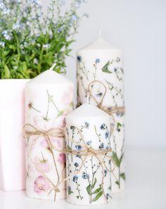 Muttertags DIY - Kerze mit getrockneten Blumen | Sprinzeminze.com