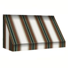 AWNTECH 12 ft. New Yorker Window Awning (44 in. H x 24 in. D) in Burgundy/Forest/Tan Stripe, Red