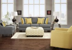 Lacks | Maxwell Gray 2-Pc Living Room Set