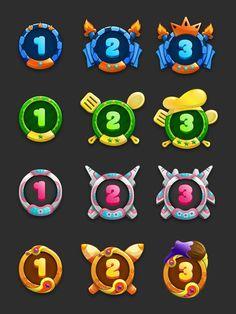 Badge design for game on Behance: