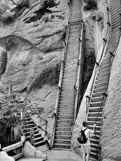 rock climbing, sorta