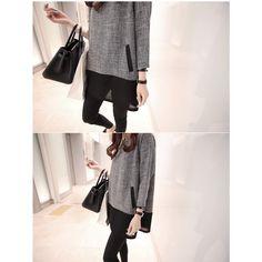 Women Tops And Blouses 2016 New Fashion Plus Size Women Clothing O Neck Long Sleeve Linen Shirts White Grey XXXL 4XL 5XL-in…