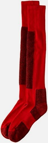 #Thorlo Women's Performance Ski Sock-#Large-Fire Red, Fire Red, Large Made by #Thorlo Color #Fire Red. Sock fibers provide maximum insulation with superior softness and moisture wicking durability. Flat knit instep and cushioned arch for better fit and ventilation. Cushioned shin protects against shin bite for greater comfort. Low profile toe seam won't rub or irritate feet