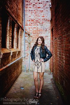 Senior Portrait Photography #PhotographybyHailey #seniorpictures #alley #dramatic