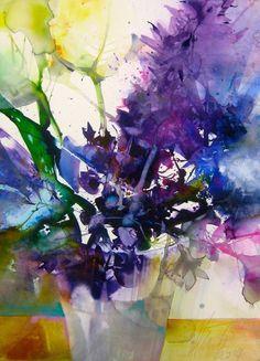 Художница Elke Memmler родилась в 1962 в Штутгарте. Она член академии искусств в Галле, доцент в рамках WCC Watercolorclub, а также даёт мастер-классы по акварели. С успехом выставляется на национальных и международных выставках, её работы публикуются в художественных журналах и каталогах. Eike пишет чудесные пейзажи, но мне сегодня захотелось остановиться на ее серии «Цветы».