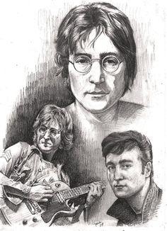 John Lennon by Alleycatsgarden.deviantart.com on @deviantART