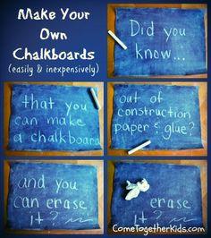 DIY Chalk board. A project kids will love...