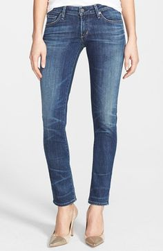 favorite jeans EVER Citizens of Humanity 'Racer' Whiskered Skinny Jeans (Patina) | Nordstrom