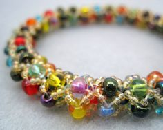 Beaded Bangle Bracelet  Subtle Accents by by randomcreative, $35.00