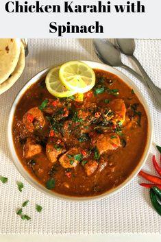 Chicken Karahi with Spinach