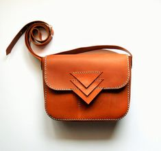 BROWN LEATHER PURSE / Leather bag / pouch / corssbody bag by Lanhe