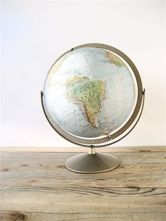 Vintage Replogle World Globe by lovintagefinds on Etsy, $36.00