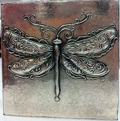 love this pewter embossed dragonfly