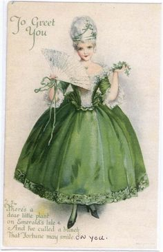 Shop Vintage Victorian Girl In Green St Patrick's Day C Postcard created by kinhinputainwelte. Personalize it with photos & text or purchase as is! Vintage Postcards, Vintage Images, Holiday Postcards, St Patricks Day Cards, Saint Patricks, Erin Go Bragh, Irish Blessing, St Paddys Day, St Pattys