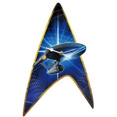 Add a dash of classic Star Trek to your wall. This Star Trek Classic Enterprise Wall Clock features the famous Star Trek Shield with the Enterprise ship on it. Star Trek Enterprise, Enterprise Ship, Star Trek Merchandise, Westland Giftware, Star Trek Collectibles, Video Clips, Geek Gadgets, Famous Stars, Dog Carrier