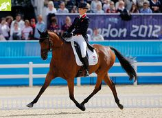 Zara Phillips competes with High Kingdom in the dressage event