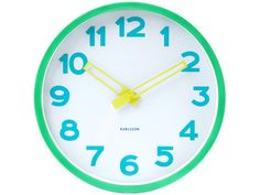 Karlsson Wall Clock Splash Green Fields:Amazon:Kitchen & Home