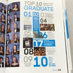Top 10 on the side. Individual pictures. Brief write up?