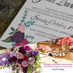 See how Behold Designz can color customize their design to your wedding colors.