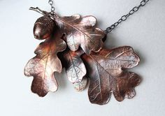 I design imaginative and unique natural fashion jewelry and art pieces. Botanical items or impressions are covered in copper, then finished with