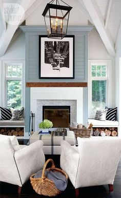 The more neutral tile might be a better choice if you ever wanted to change colors in the room. Inspiration Fireplace 4