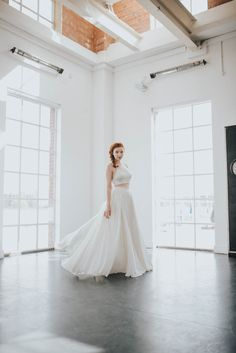 """""""A soft, feminine inspiration shoot with a modernised twist. Rose Quartz, Copper details, geometric shapes and contemporary bridal wear, teamed with luscious florals and complimented by a cool industrial style wedding venue."""" That's how this shoot was described to me by talented wedding stylist and planner Hannah of Hannah Charlotte Weddings.  100% living up to the hype! Hannah and the team pulled off a super inspirational styled bridal shoot that you are just gonna be all over."""