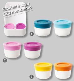 Mon bento sauce containers. These look like they hold sauces/dressing well.