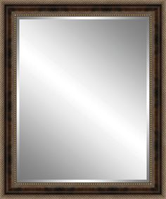 Wood Framed Beveled Plate Glass Mirror